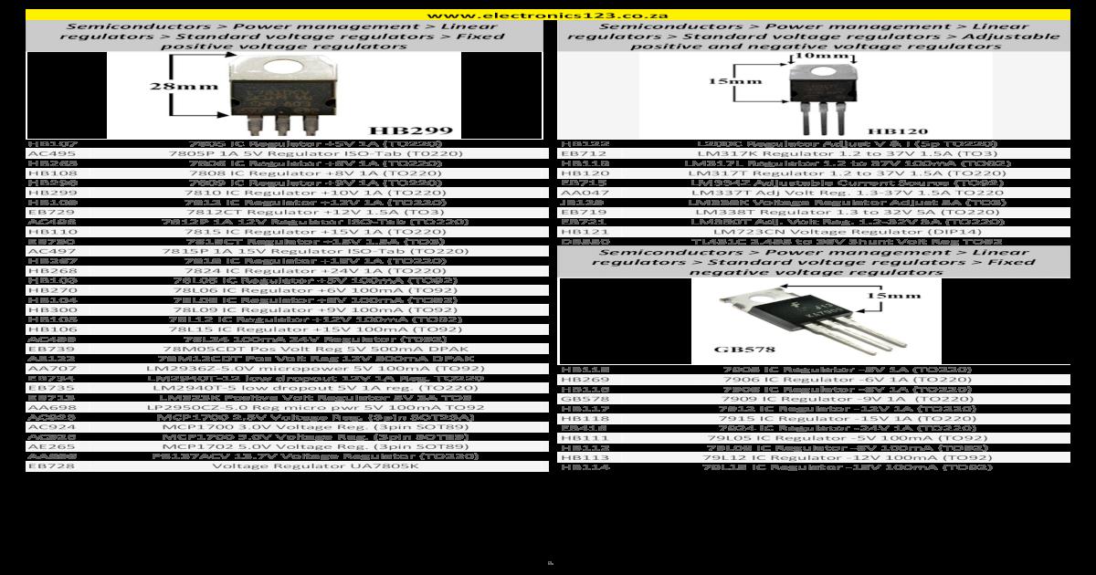Semiconductors Power Standard voltage regulators Adjustable