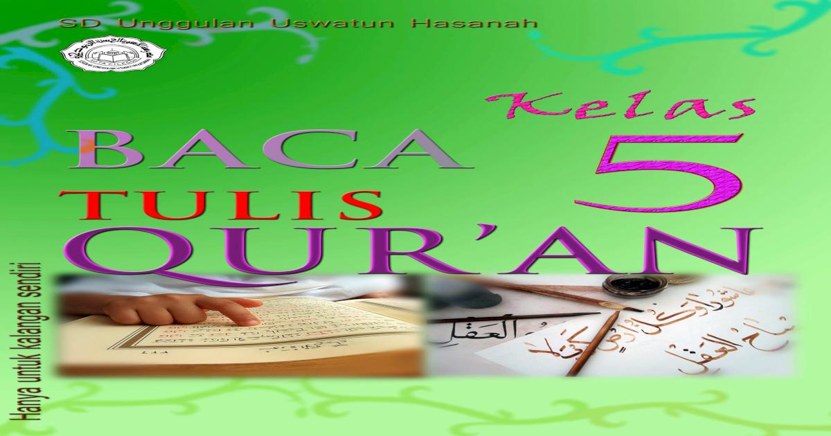 Buku Btq Kelas 1 Sd - Revisi Sekolah