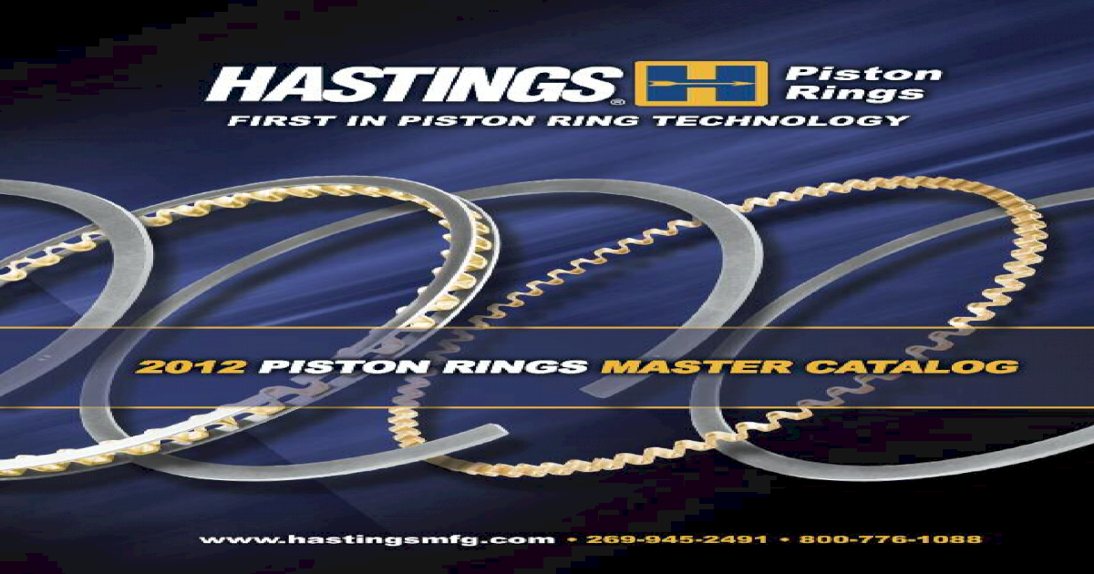 HASTINGS 2C7241 Piston Ring Set fits PERKINS A4-248 ENG