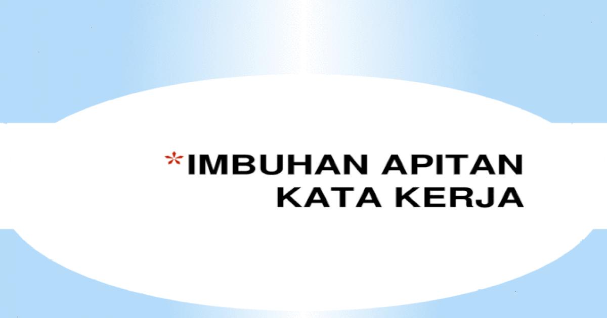 Imbuhan Apitan Kata Kerja  You can do the exercises online or download the worksheet as pdf.