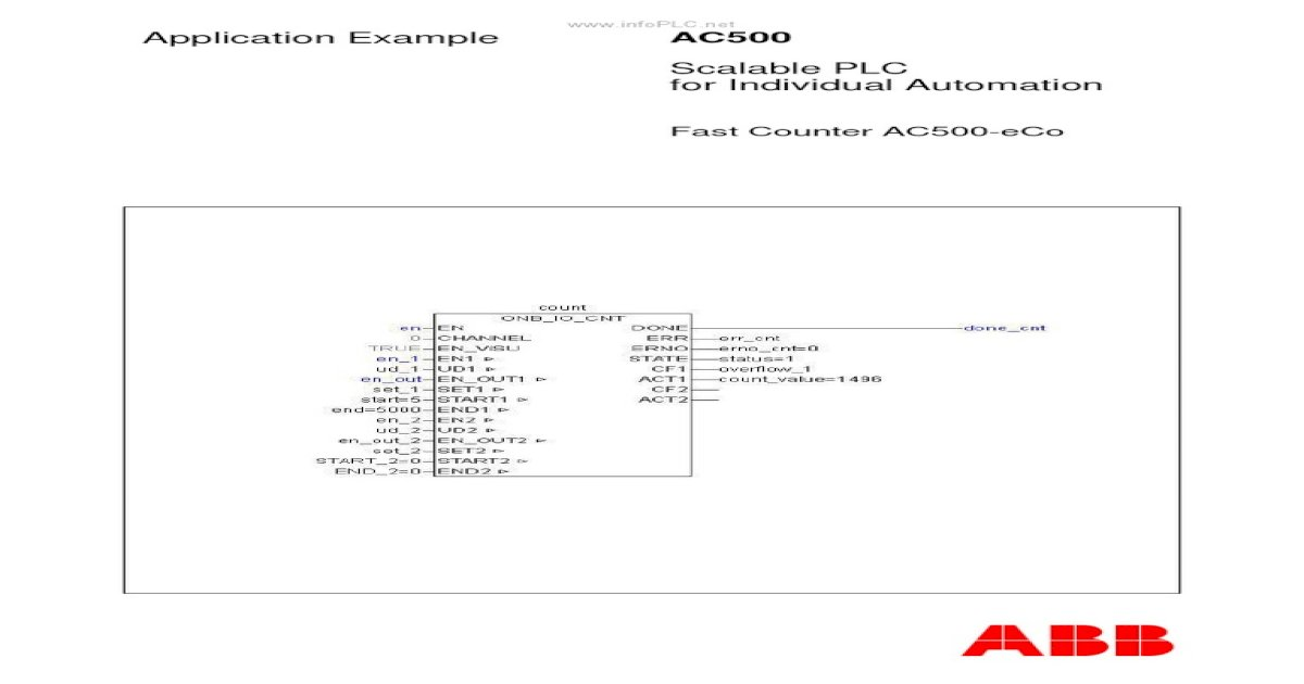AC500 - Contador de Alta Velocidad (Encoder) en AC500 ECo