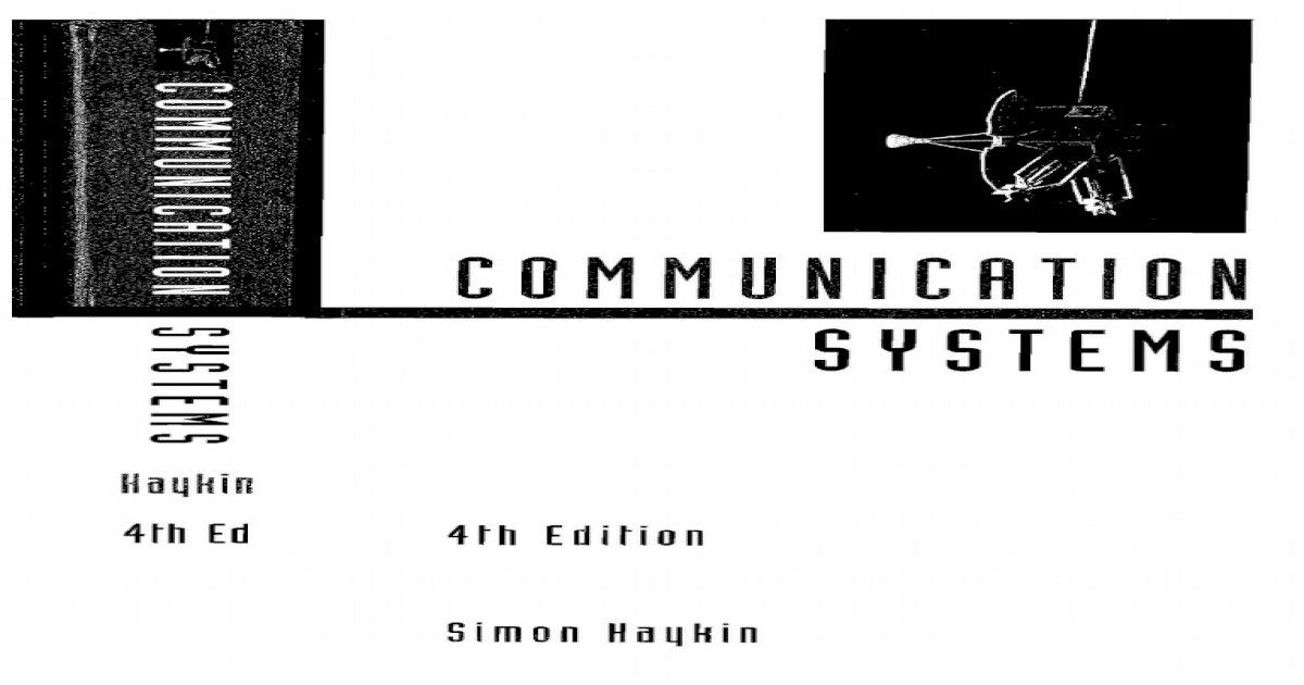 Solucionario y Libro Sistemas de Comunicacion - Haykin