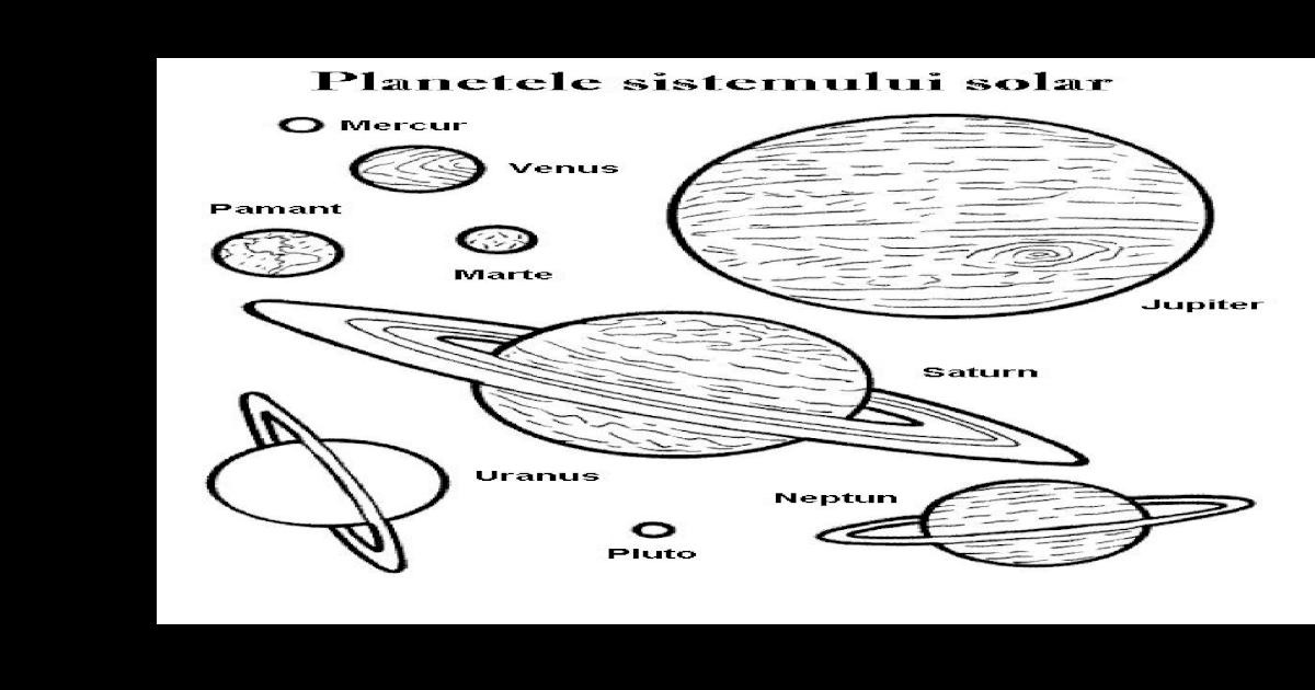 Planetele Sistemului Solar Planse Colorat