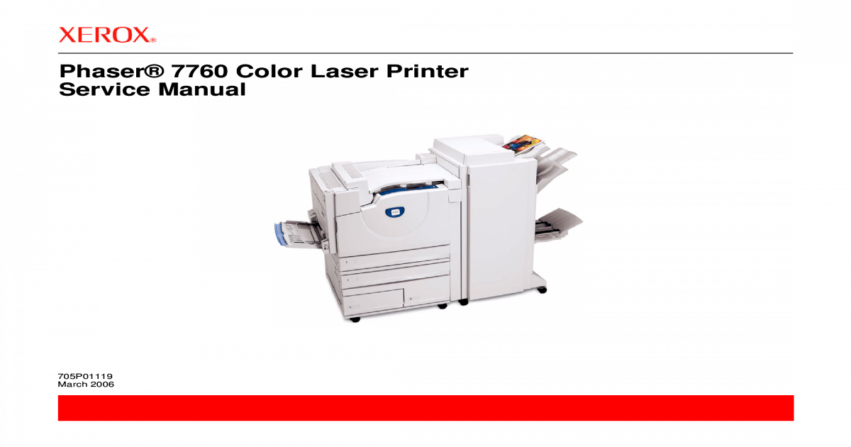Xerox Phaser 7760 Service Manual