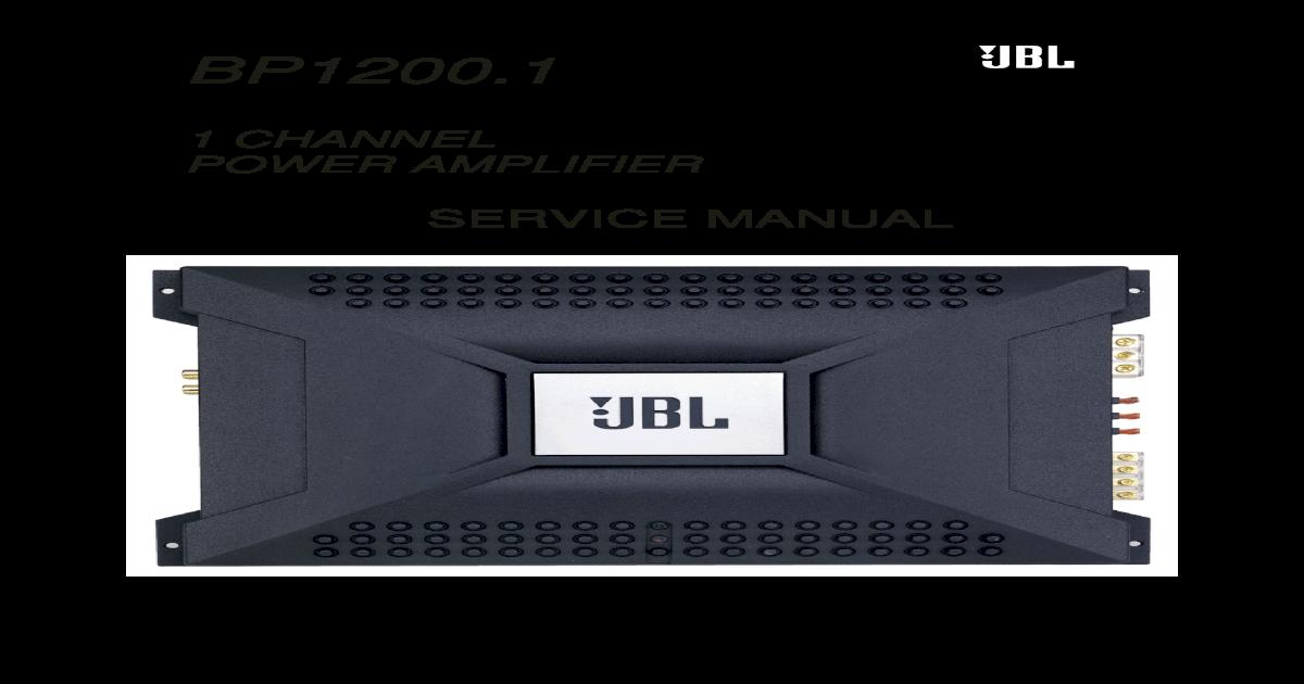 BP1200.1 Jbl Amp Bp Wiring Diagram on