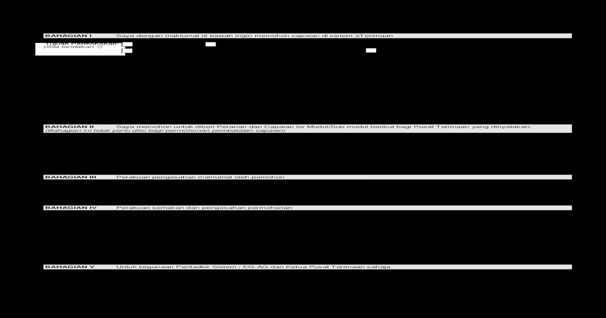 Borang Permohonan Capaian Sistem Eterimaan Janm Et01