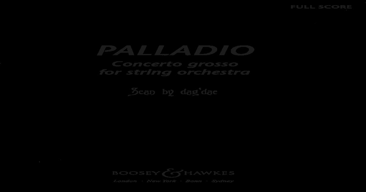 Karl Jenkins - Palladio Full Score