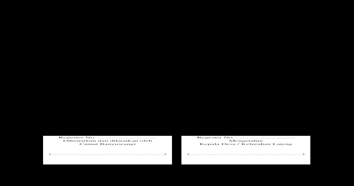Surat Pernyataan Pembagian Harta Waris
