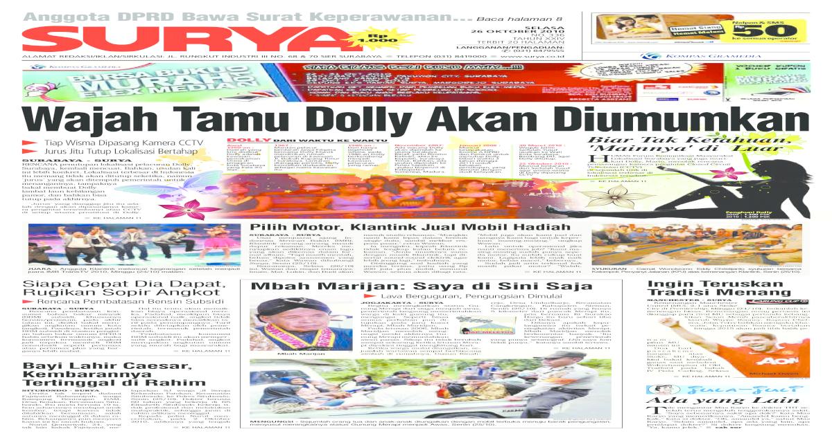 Surya Edisi Cetak 26 Oktober 2010