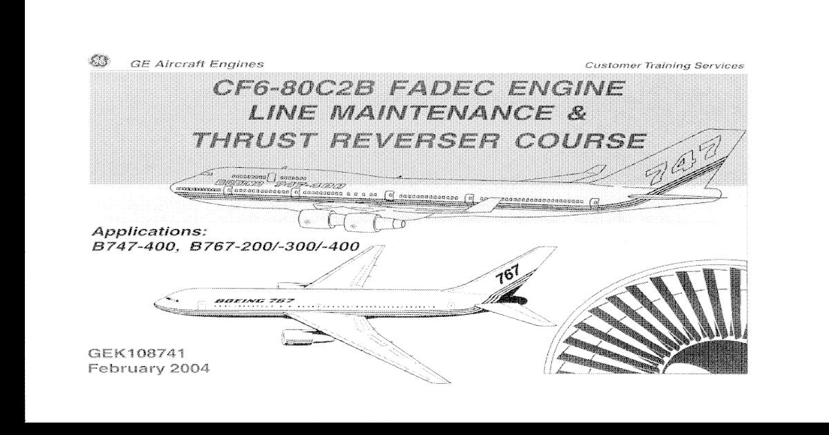 Ge cf6 80 c2 fadec engine boeing lm