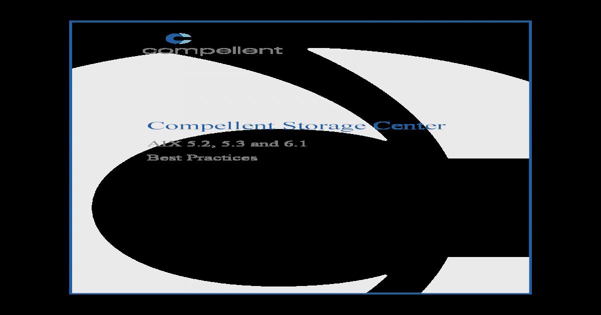 Dell-Compellent AIX Best Practices