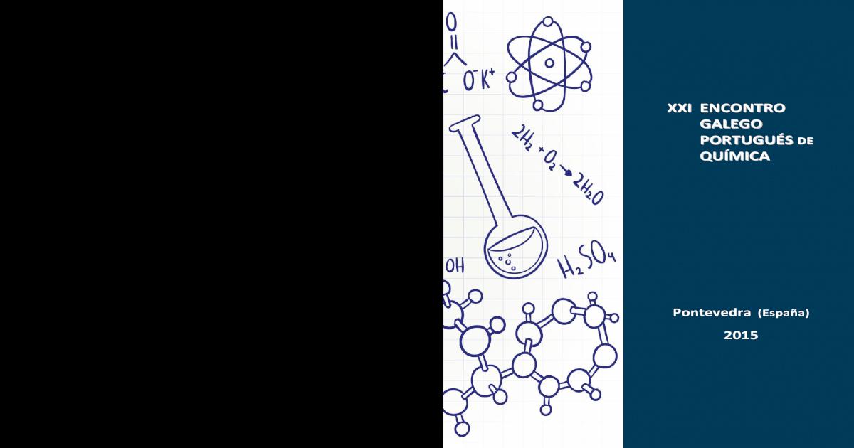 Xxi Encontro Galego Portugus Qumica Encontro