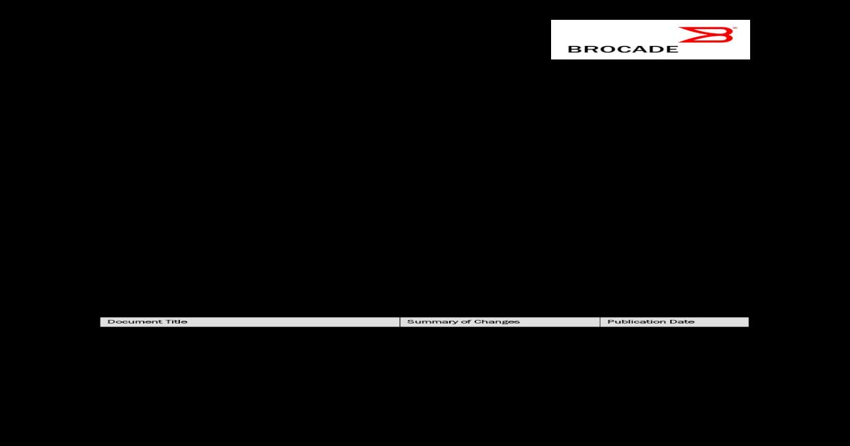 Brocade Fabric OS v7  ? 2013 Brocade Communications