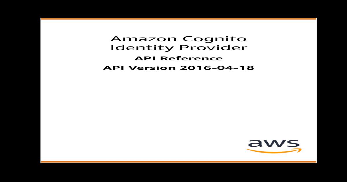 Identity Provider Amazon Cognito - AWS Cognito Identity