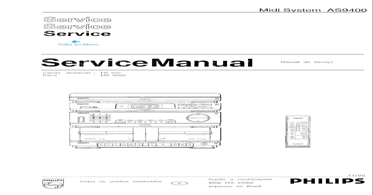 Manual servio Philips as9400 as405