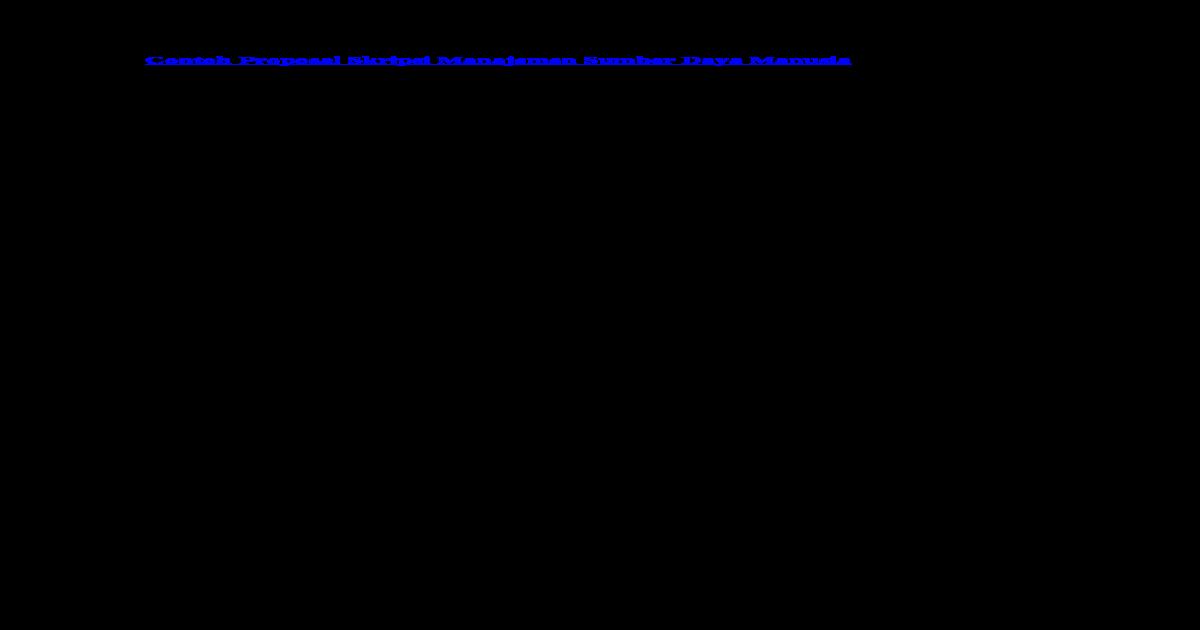 Contoh Batasan Masalah Skripsi Manajemen Sumber Daya Manusia لم