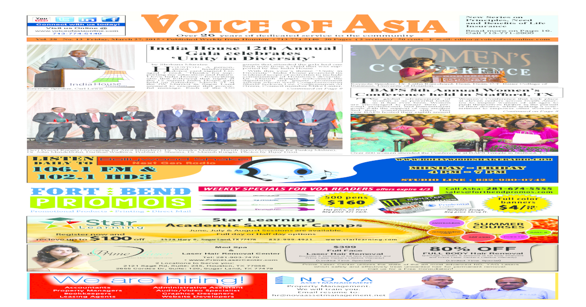 Voice of Asia March 27 2015