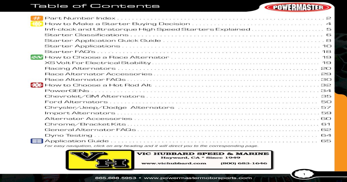 Powermaster 58137 Alternator Powermaster Performance