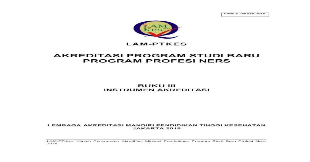 Akreditasi Program Studi Baru Program Usulan Persyaratan