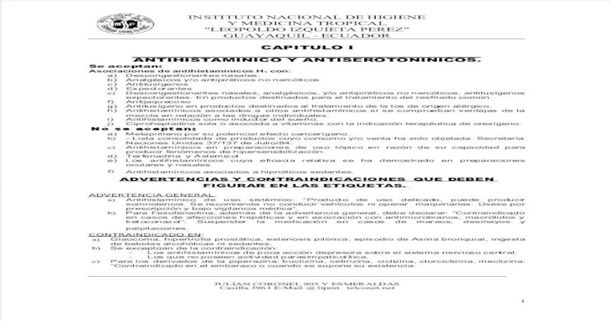 tabletas de diclorhidrato de cetirizina utilizadas en diabetes