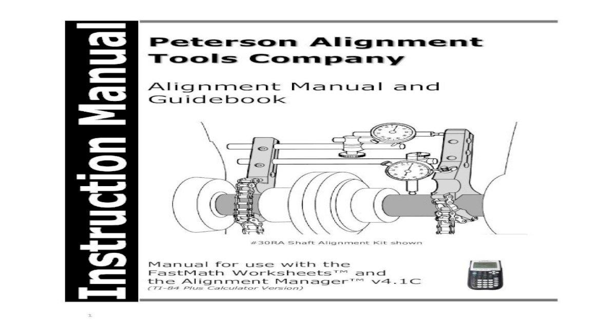 Peterson Alignment Tools ALIGN · Peterson Alignment