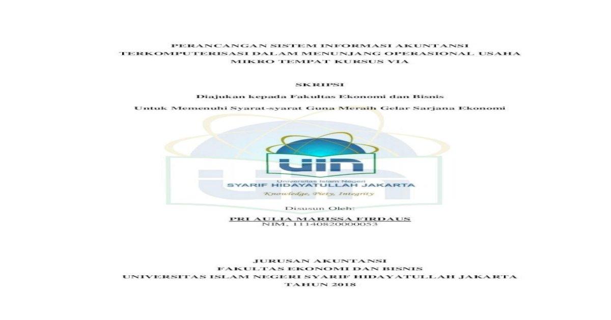 Perancangan Sistem Informasi Akuntansi 4 Sistem Informasi