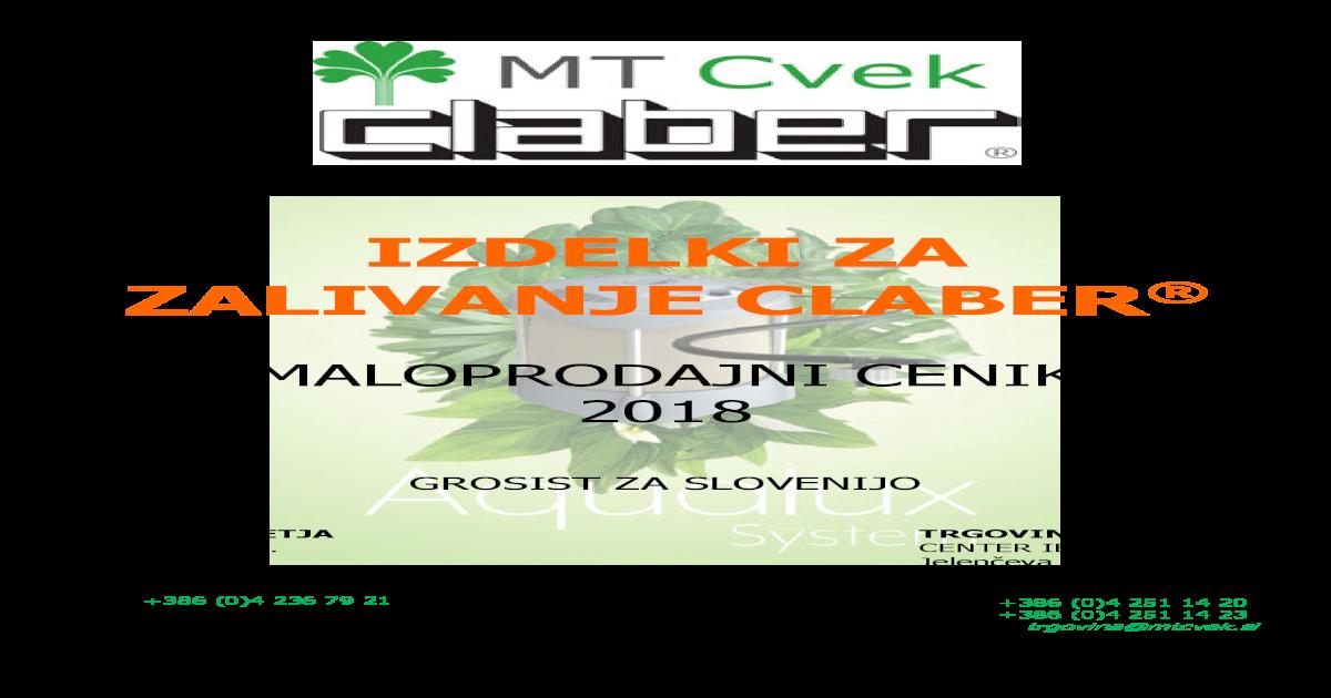 19-25 Claber 9063 Tubo 3//4 Silver Green Plus 25