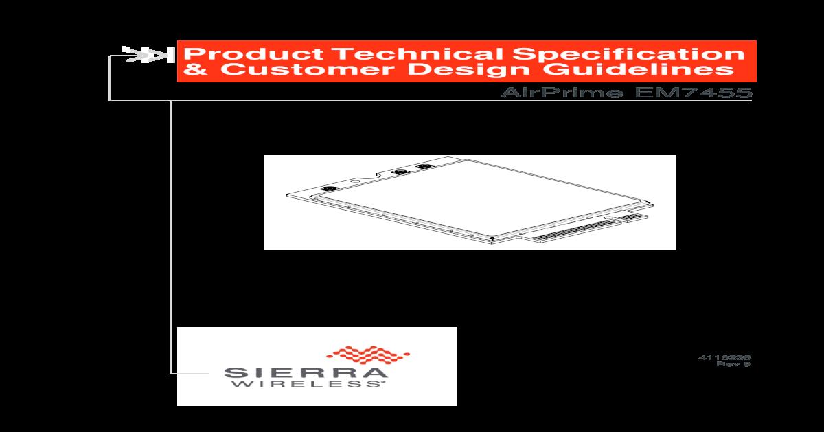 EM7430to7455 Product Specification - Digi-Key Sheets/Sierra