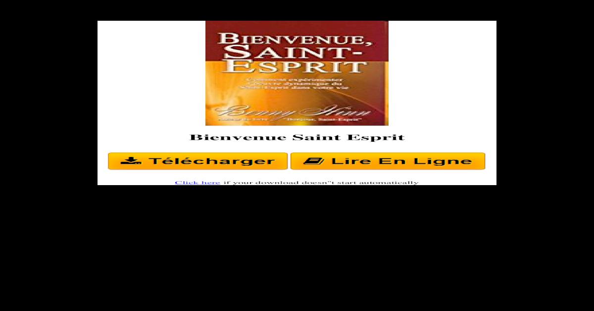 ESPRIT HINN TÉLÉCHARGER BENNY BONJOUR DE PDF SAINT