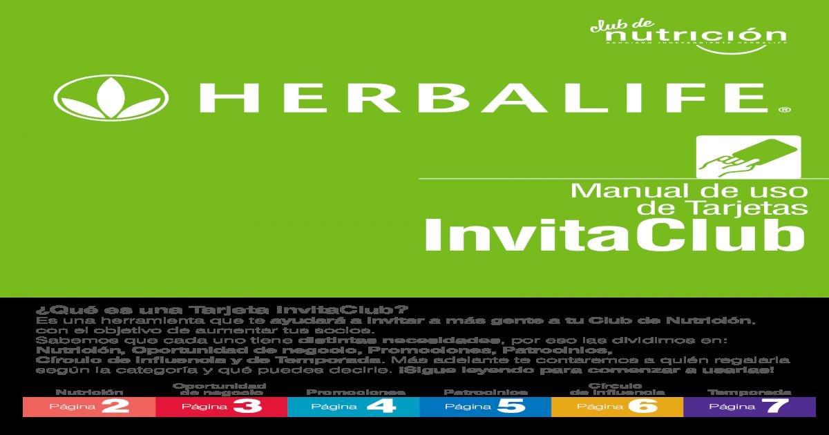 Manual De Uso De Tarjetas Invitaclub Edge Herbalife24