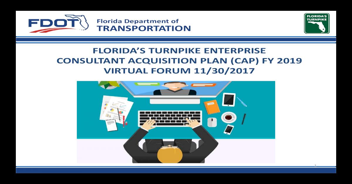 Florida Department of TRANSPORTATION FLORIDAS Virtual