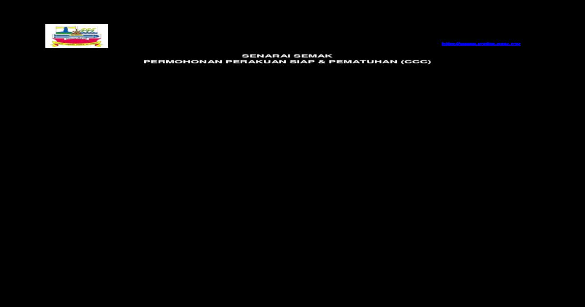 Senarai Semak Permohonan Perakuan Siap Pematuhan Ccc Mdks Gov