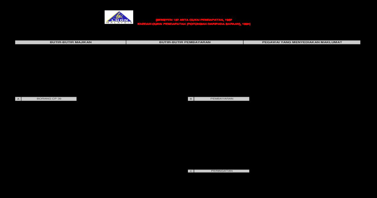 Butir Butir Majikan Butir Butir Pembayaran Contoh Pcb Cp38