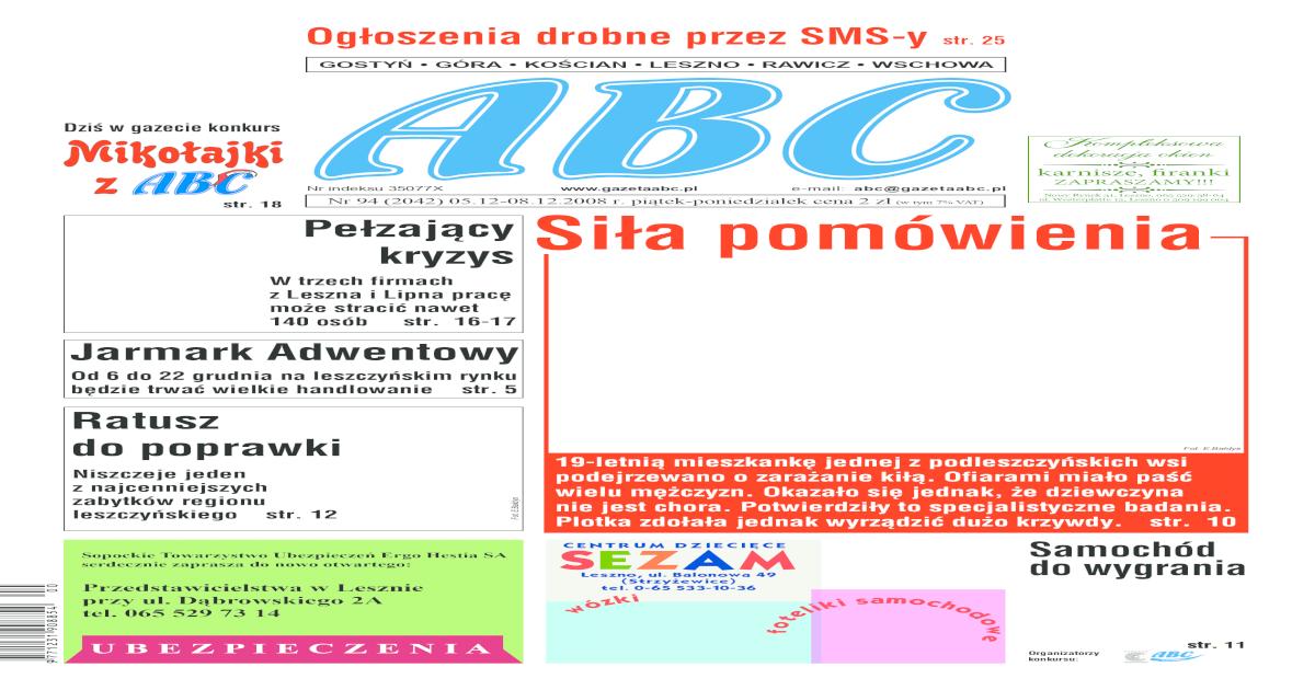 Gazeta Abc 5 Grudnia 2008
