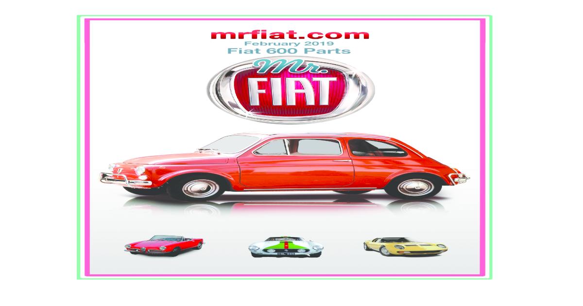 Abarth 1300 Fiat 1300 Fiat 1500 /& ASA 1000 New Front Caliper Piston /& Seal Kit