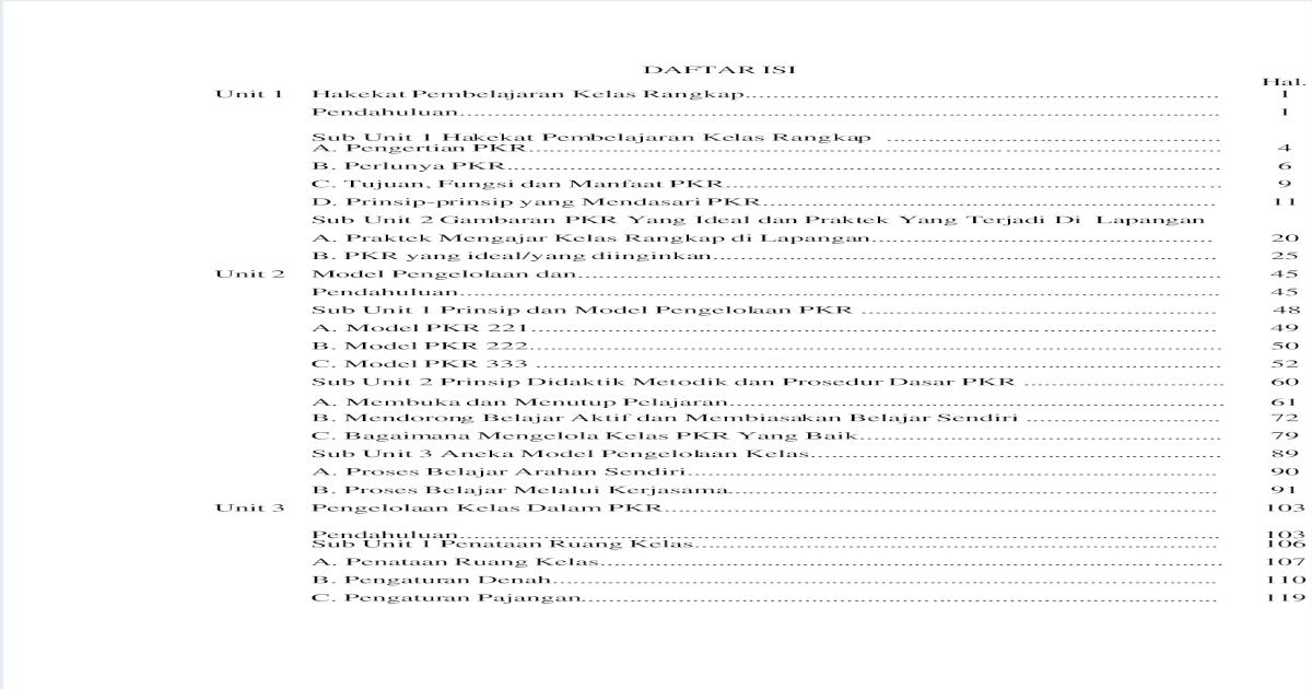 Rpp Pembelajaran Kelas Rangkap Model 211 Kelas 3 Dan 4 ...