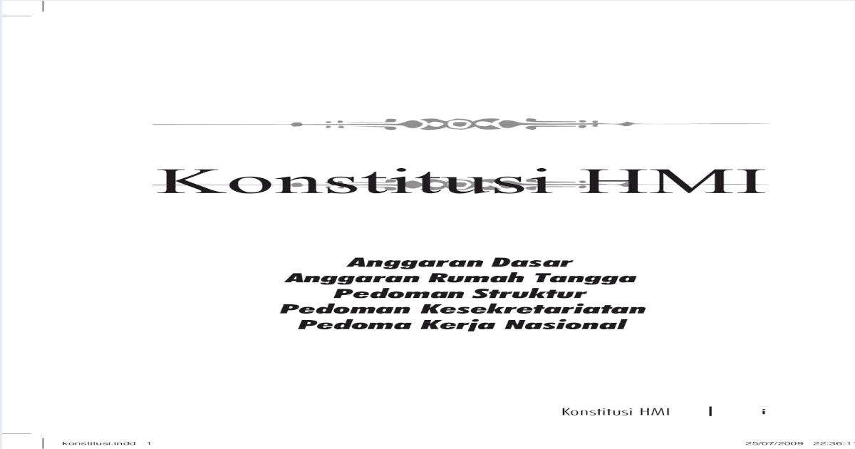 Konstitusi Hmi