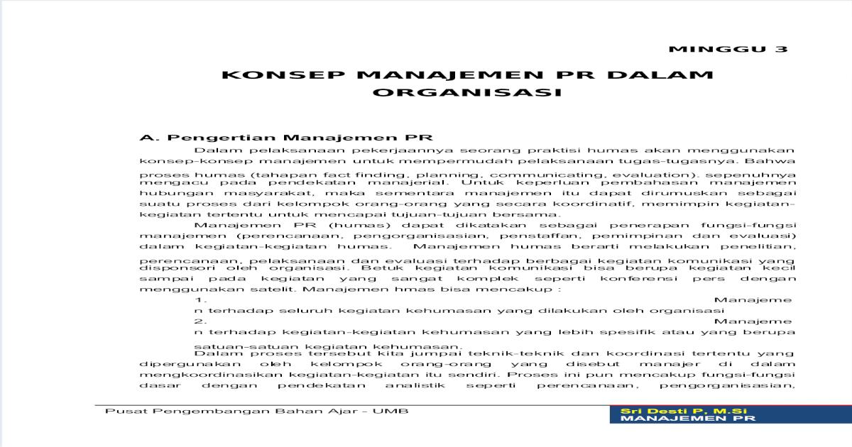 Modul Manajemen Humas