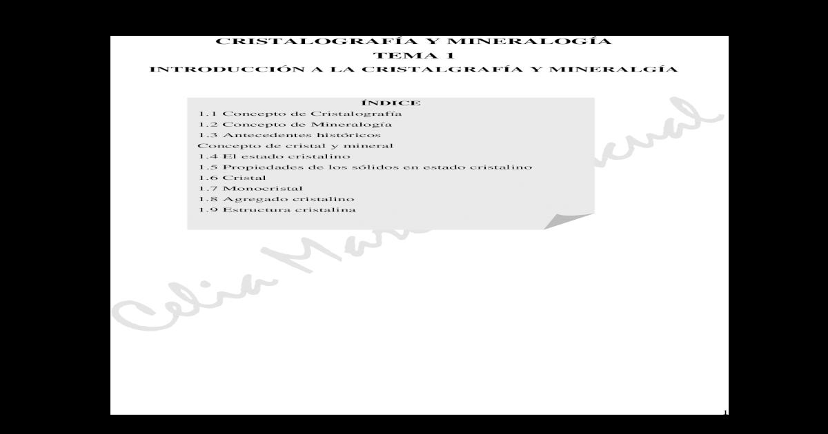 Cristalografa Y Mineraloga Pdf