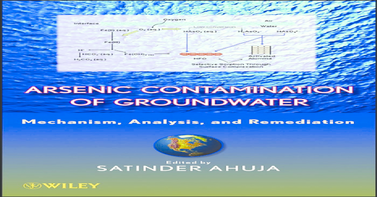 Arsenic Contamination of Groundwater: Mechanism, Analysis