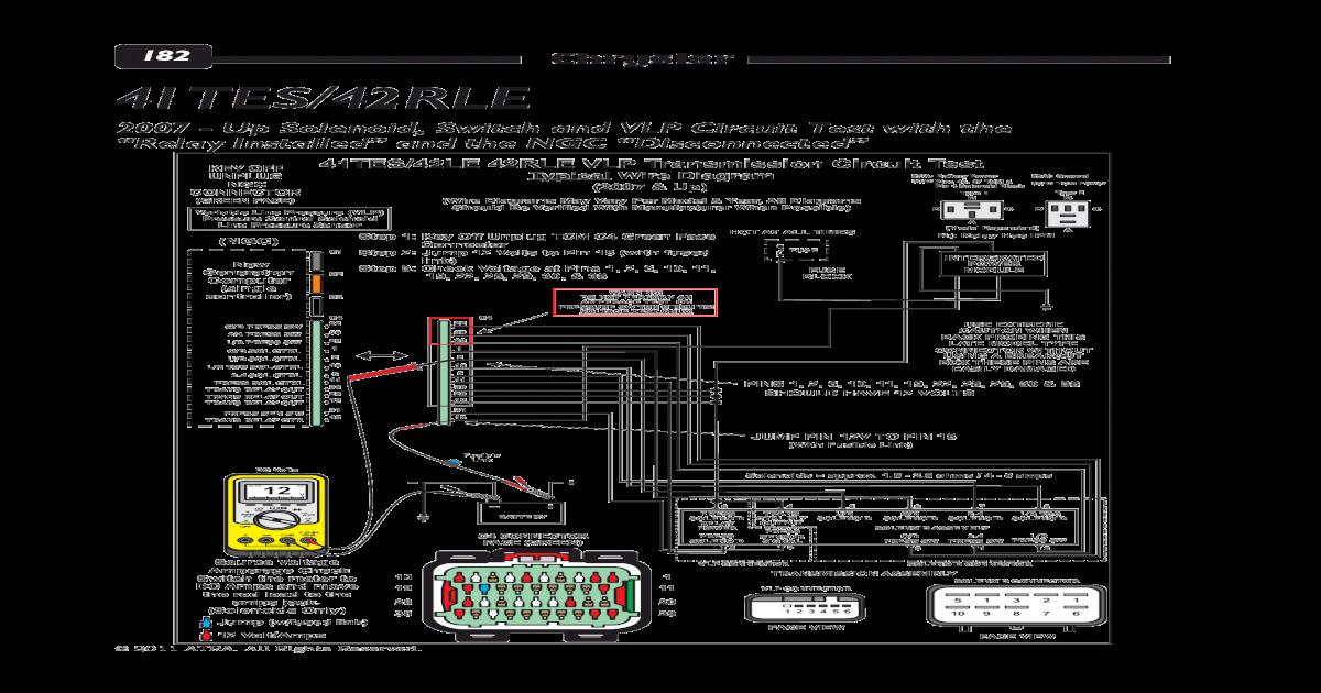 [DIAGRAM_38EU]  182 Chrysler 41TES/42RLE - Transmission Repair and Chrysler 41TES/42RLE ...  41TES/42LE 42RLE VLP Transmission Circuit Test Typical Wire Diagram 5 O/D  SOLENOID U/D SOLENOID O/D SOL | A606 42le Transmission Wiring Diagram |  | DOKUMEN.TIPS