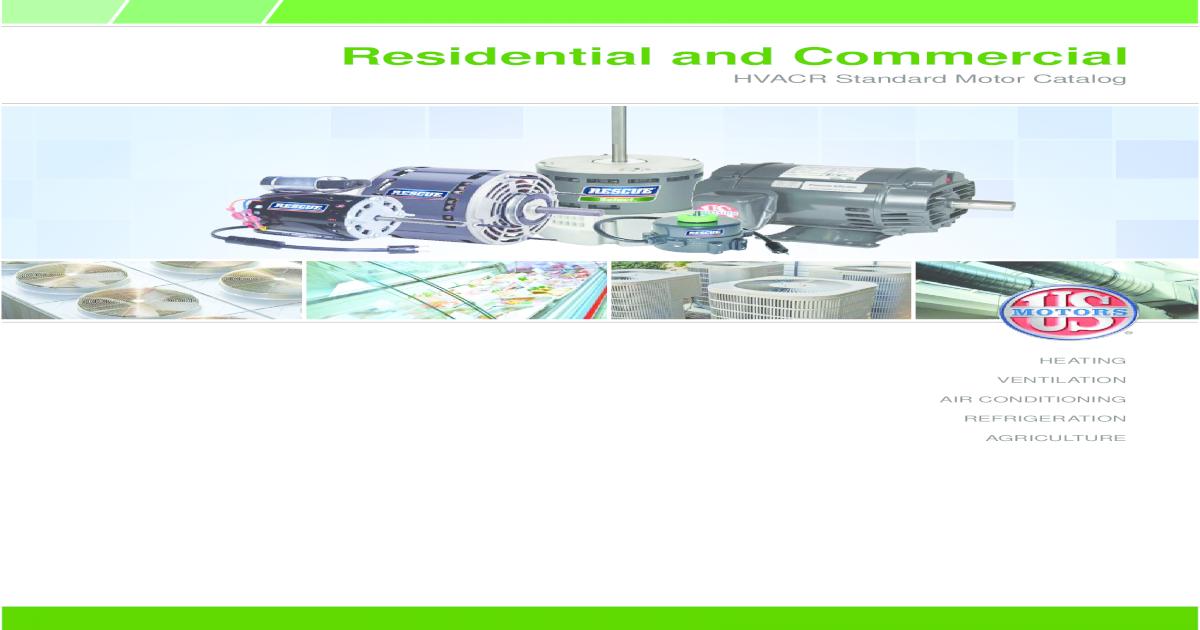Residential and Commercial HVACR Standard Motor on