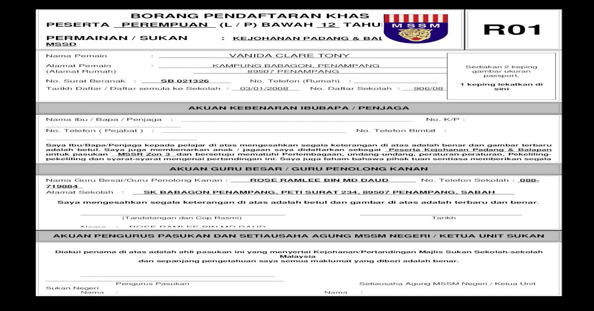 Borang R01 R02