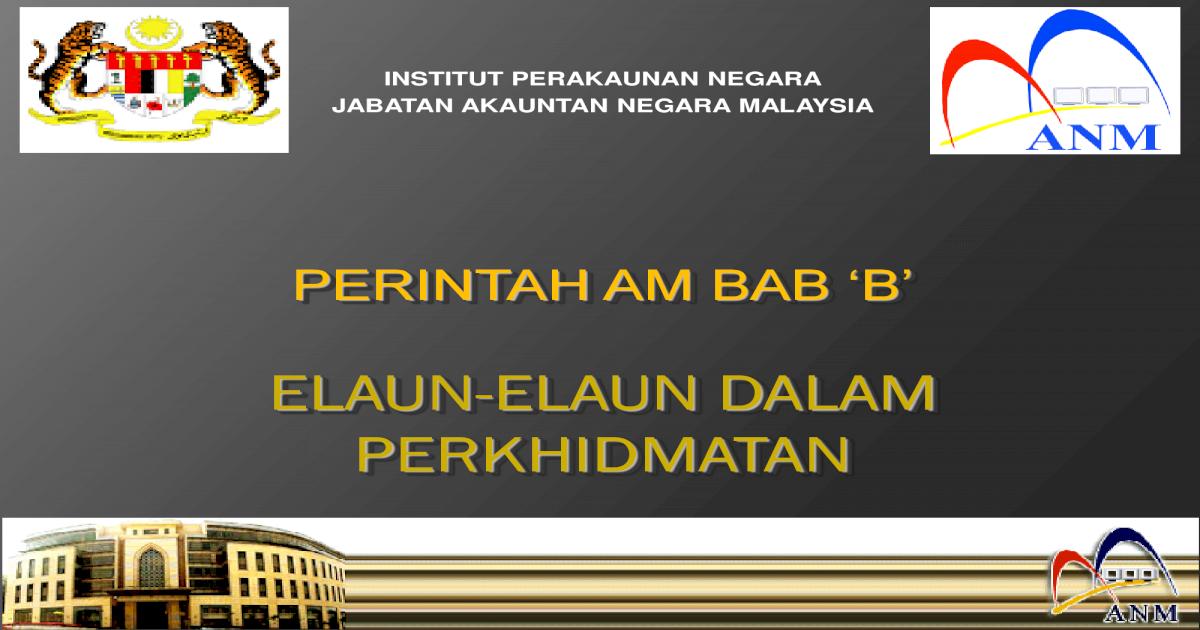 2014 05 Elaun Elaun Dlm Perkhidmatan Bab B