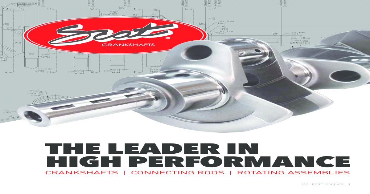 Scat Crankshafts 9-350-3750-5700-L Cast Steel Crankshaft for Small Block Chevrolet
