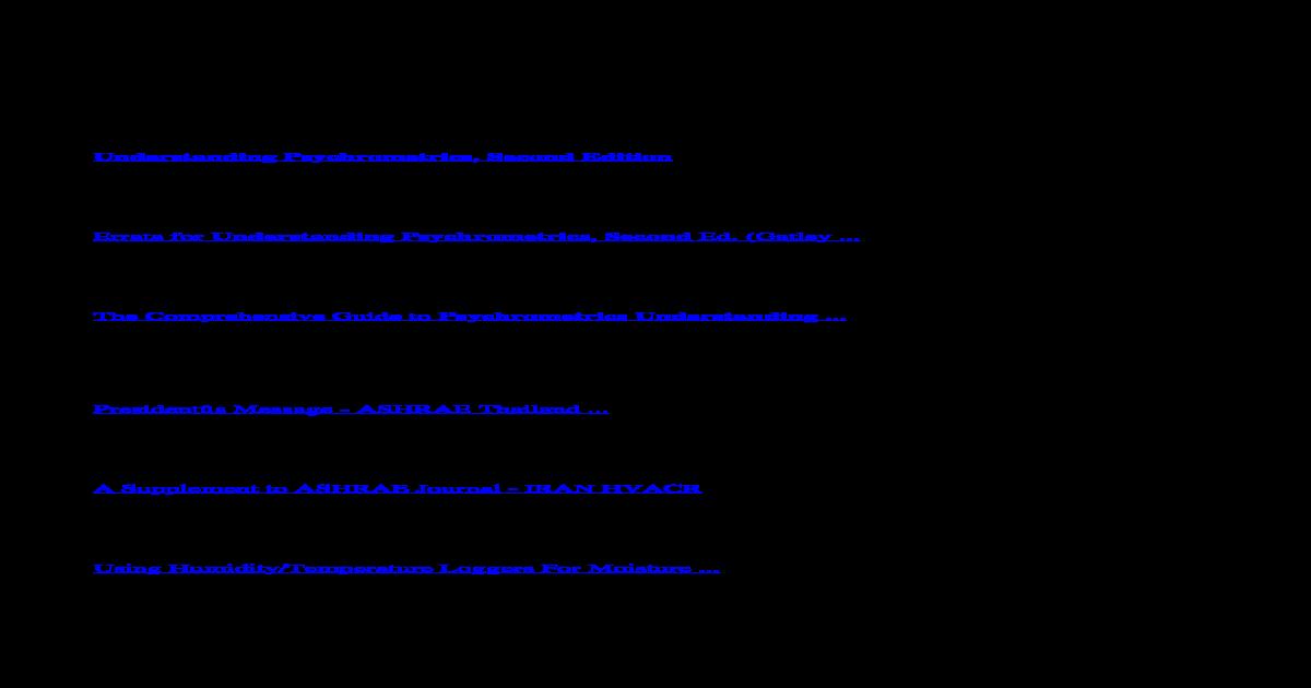 Understanding Psychrometrics Second Edition PDF 1832234