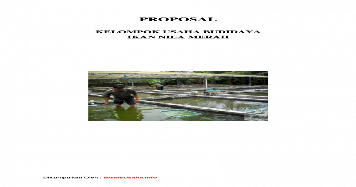 Contoh Proposal Budidaya Ikan Nila Pdf - Barisan Contoh