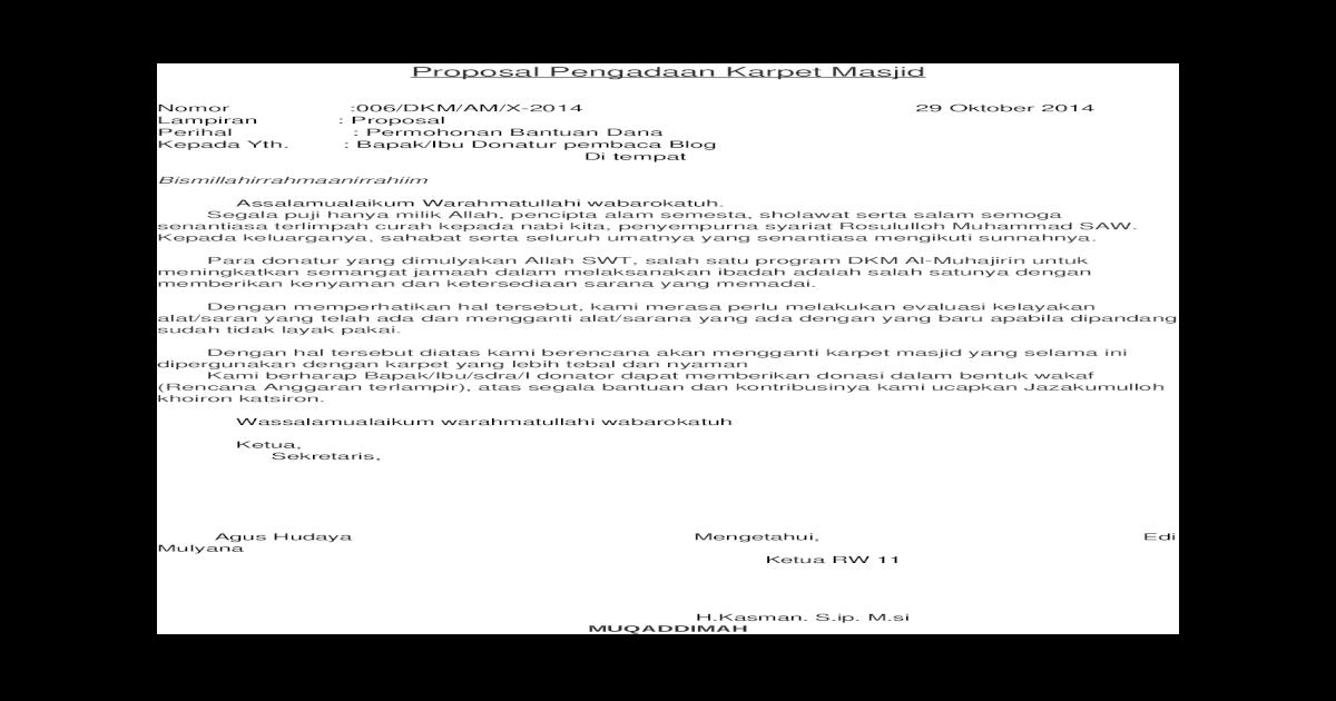 Contoh Surat Permohonan Bantuan Dana Untuk Orang Meninggal ...