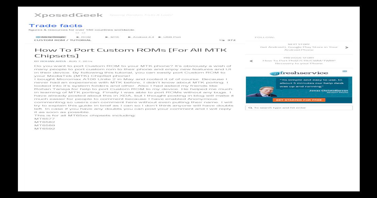 How to Port Custom ROMs for MTK SoCs (All Chipsets)1