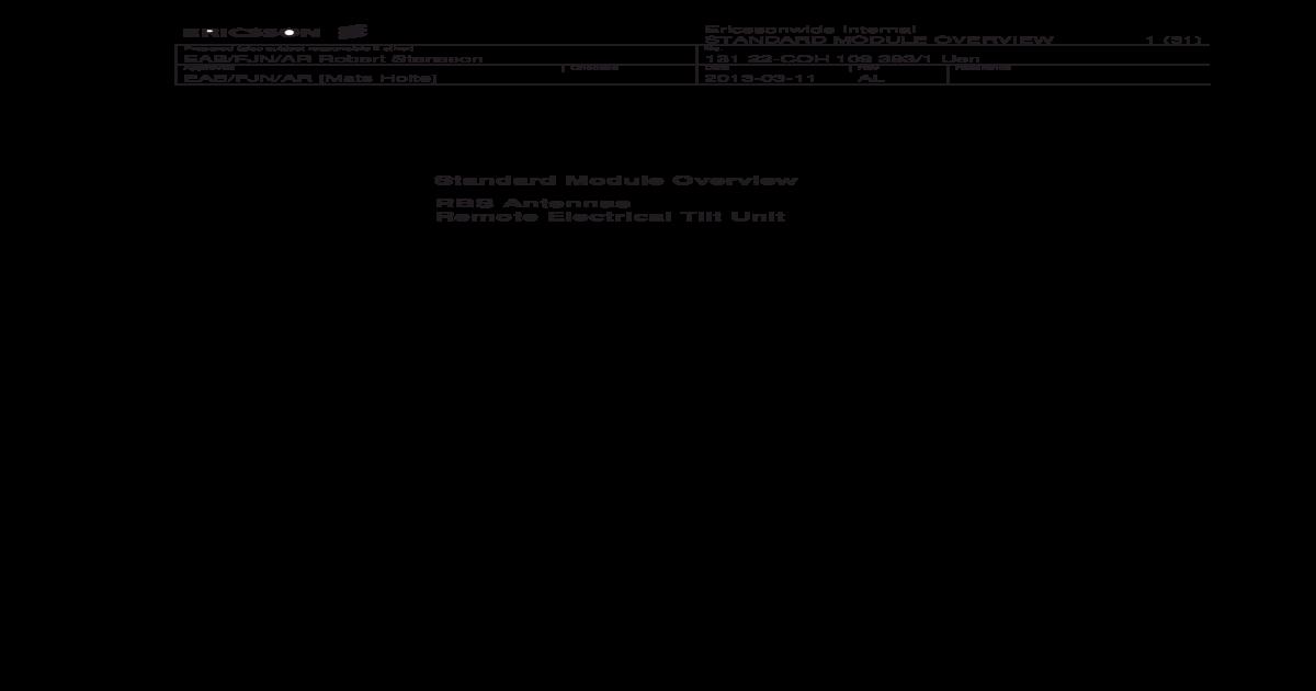 Ericsson 2205 Datasheet